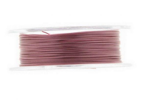 0,4mm Schmuckdraht, nylonummantelt, 5m Rolle pink