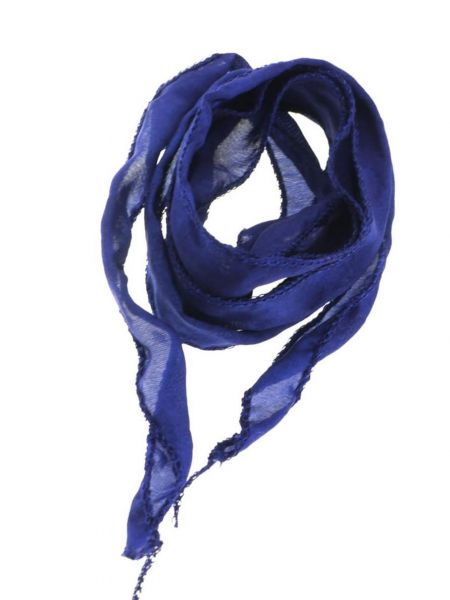 "Seidenband ""Silky"" handcoloriert, Habotai Seide, ca.20mm breit, ca.1,00m, marineblau"