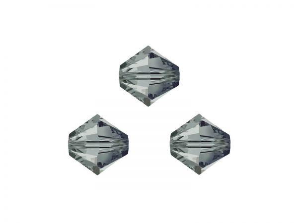 Swarovskiperlen, Doppelkegel, konisch, 5328, 4mm black diamond