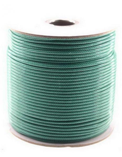 Textilschnur (Polyester) 3mm 1,00m Zuschnitt, petrol