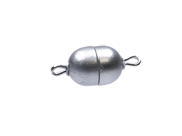 Magnetverschluss Mini-Powerclip DE, 8x6mm, silber matt