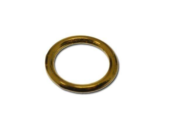 Ringel, gelötet, vergoldet, ca. 10x1,15mm 10 Stck SB