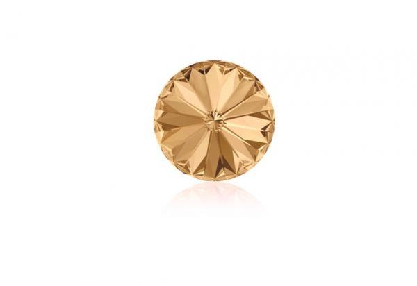 Swarovski - Crystalstein rund 14mm crystal copper