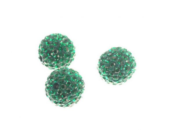 Diamond Strassperle 10mm, Bohrung 2mm, emerald