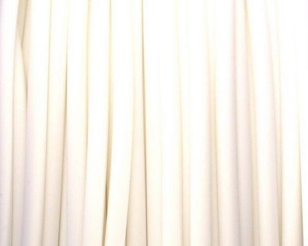 Schmuckschlauch hohl ca.4mm, 1m, weiß