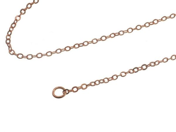 Ankerkette, runde 2,0mm Glieder, Messing rosegold , ca. 80cm lang, Karabinerverschluss