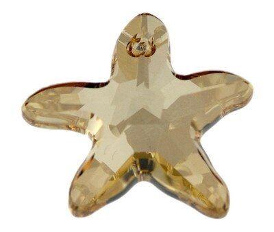 Swarovski Starfish Anhänger, 20mm, crystal golden shadow