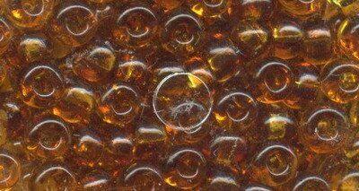 Rocailles 6/0 4mm 15 gr. Döschen, transparent topas