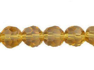 Crystal-Schliffperlen, preiswerte Qualität, 8mm Strang , ca. 45 St, braun