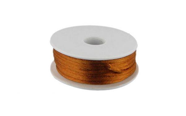 Satinkordel, 2mm, 10 m Rolle, caramel/gold