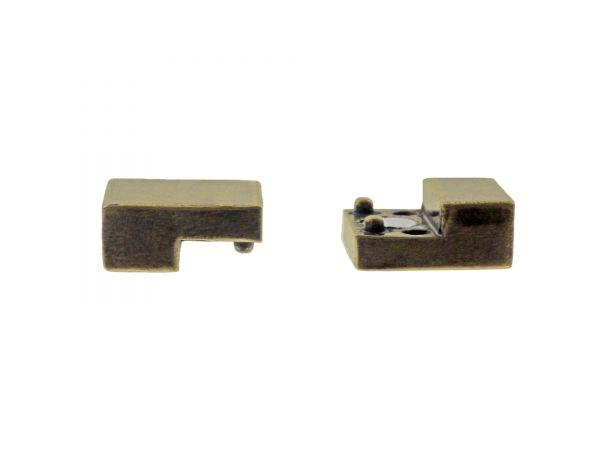 Magnetverschluss zum Einkleben, 13mmx20mm, 6.5mm dick, innen 3x10mm. bronce