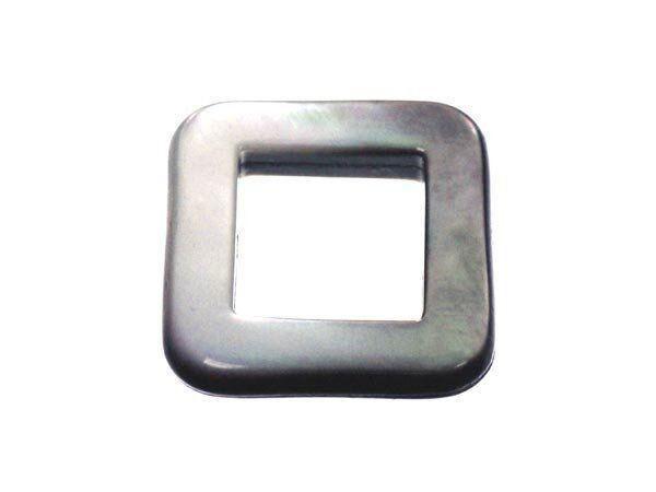 Perlmutt 'Black Lip' Quadrat 18mm'