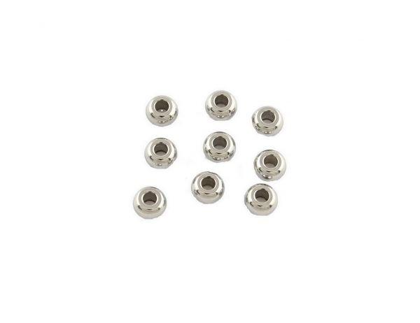 Edelstahlelement Spacer Rondell 4x2mm, Bohrung 1mm, 50 Stck.