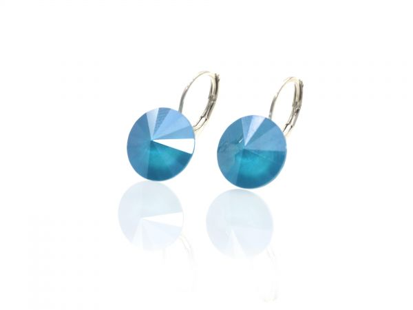 Ohrring Brisur Swarovskicrystal Rivoli 1122 12mm, sommer blue