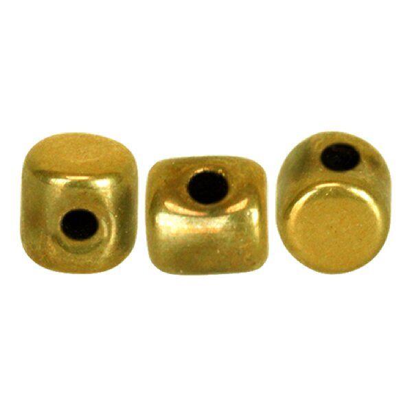 MINOS® PAR PUCA® 10gr., Glasperlen, 2,5mm, full dorado