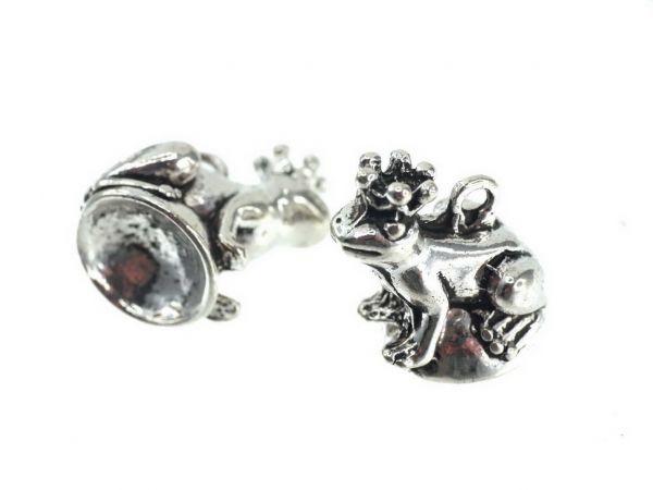 10 Stück Perlenfiguren Anhänger Frosch ca.20mm