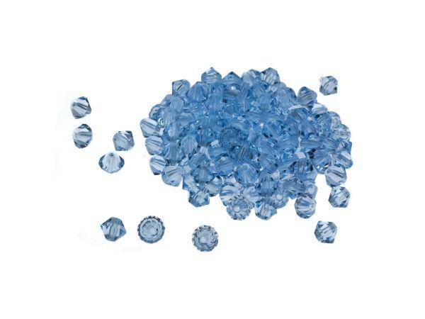 Crystalperle konisch, 4mm light sapphire 100 Stck