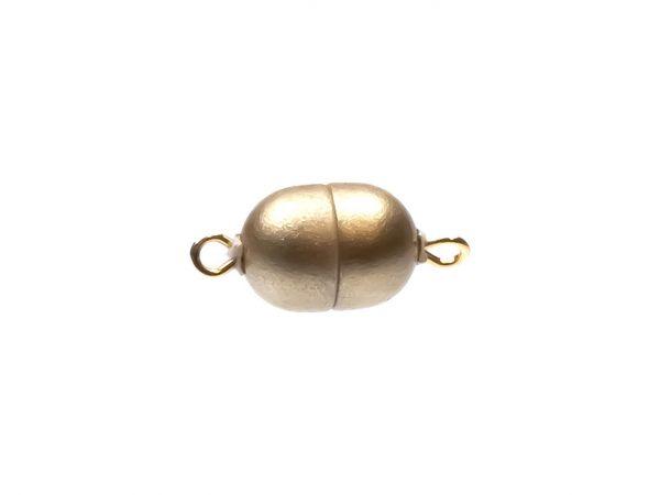 Magnetverschluss Mini-Powerclip DE, 8x6mm, gold matt