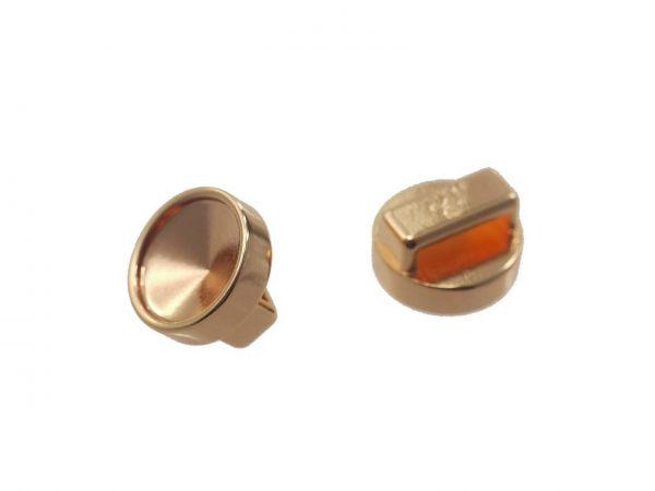 Slide-it Armbandelement, rund, 14mm , zum einkleben von 12mm Steinen, rosegold