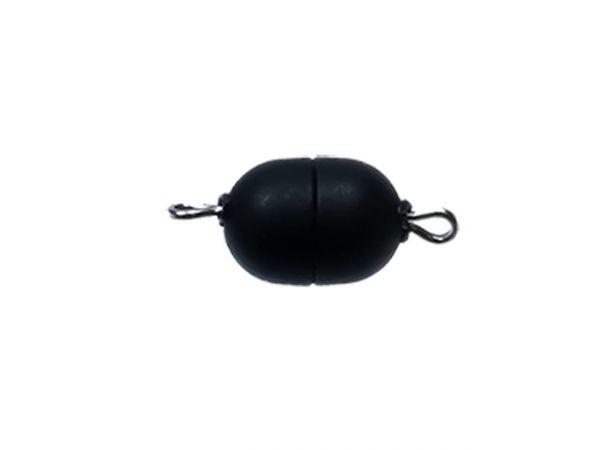 Magnetverschluss Mini-Powerclip DE, 8x6mm, schwarz matt