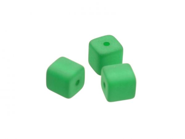Polaris matt Würfel 6x6mm emerald