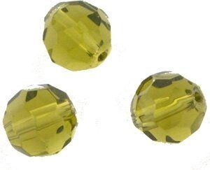 Crystal-Schliffperlen, preiswerte Qualität, 8mm Strang , ca. 45 St, olive
