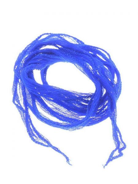 "Seidenband ""Fairy"" handcoloriert, Chiffon, ca.10mm, krinkle, , ca.1,00m, royalblau"
