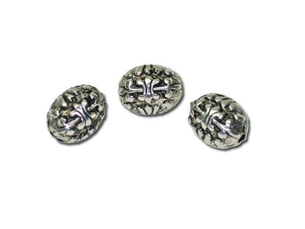 50 Stück Metalleffektperle kl.olive 10x7mm