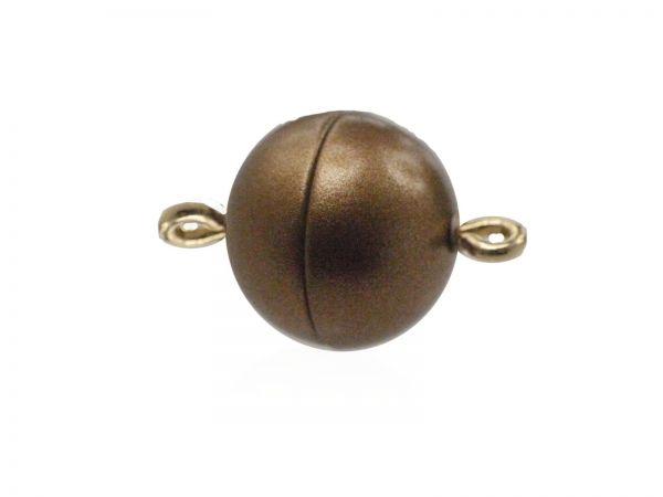 Magnetverschluss Powerclip DE, rund 12mm, bronce