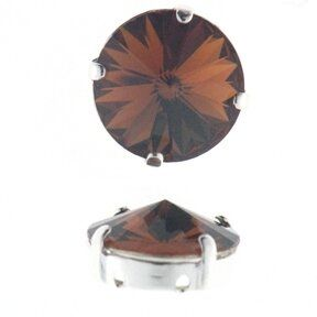 Kessel m.Swarovski-Crystal 12mm smoke topas