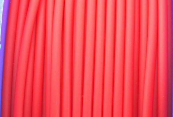 Schmuckschlauch hohl ca.4mm, 1m, rot