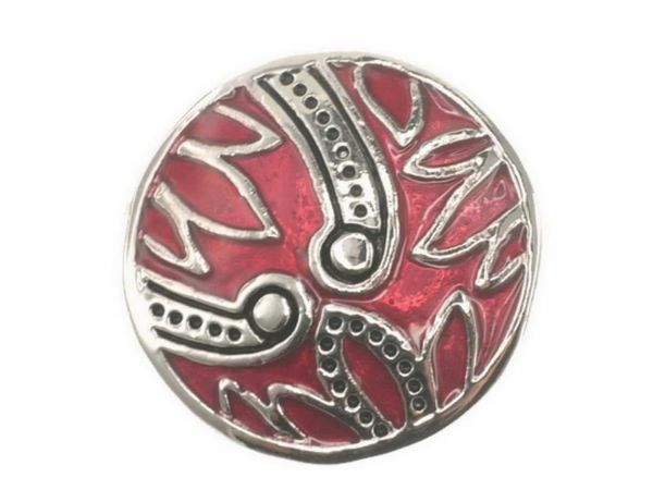Click-it Button Snake, 18 mm, rot