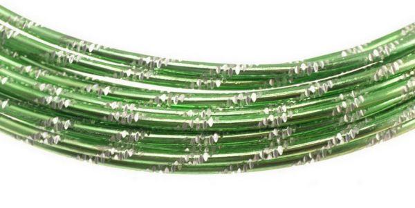 Aluminium Draht, diamond cut, 2mm, 5,00 m, apfelgrün