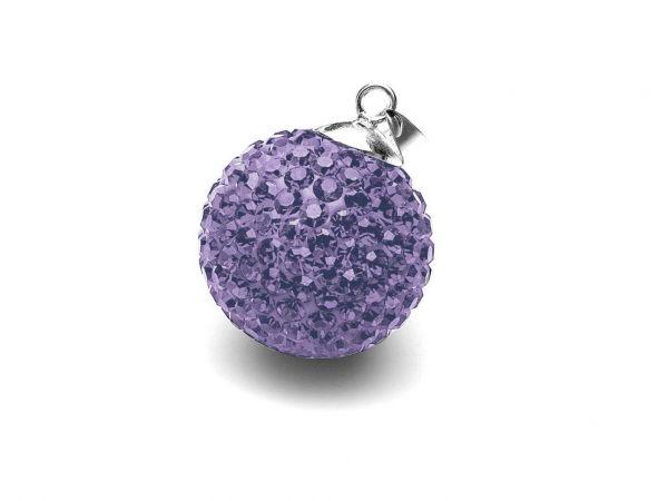 Anhänger Diamondball 18mm, lila
