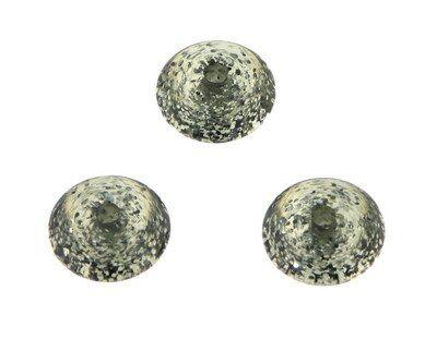 Disc 12mm Polaris Glitter black diamond