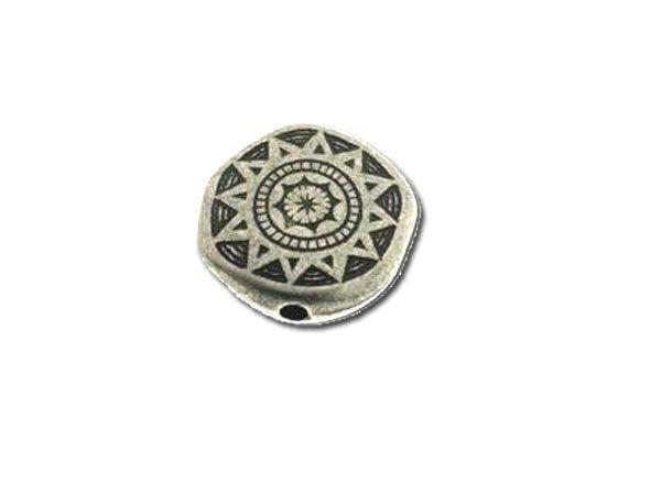 Metalleffektperle Wappenscheibe 17mm 5 Stck SB