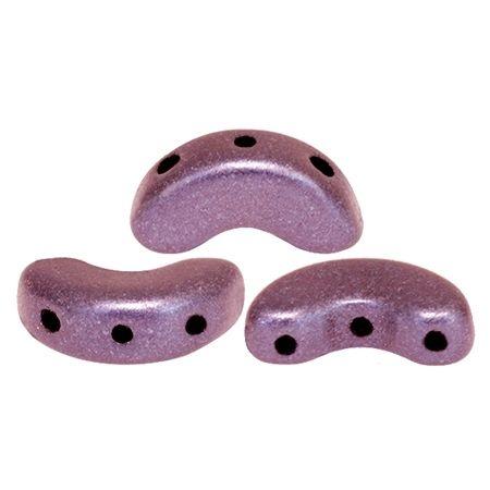 ARCOS® PAR PUCA® 5x10mm 10gr., Glasperlen 2 Bohrungen, metallic mat dark plum