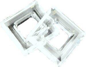 Swarovski Square Ring Anhänger 20mm crystal