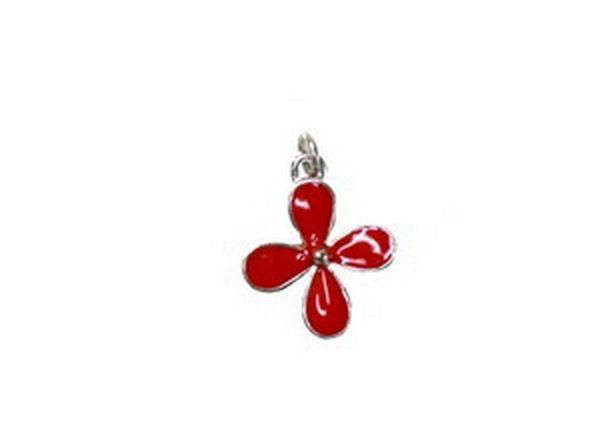 Anhänger Flower 16mm rot