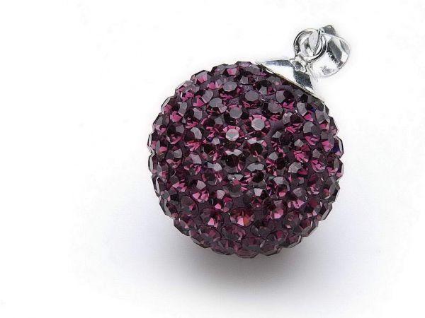 Anhänger ''Diamondball'' 20mm amethyst