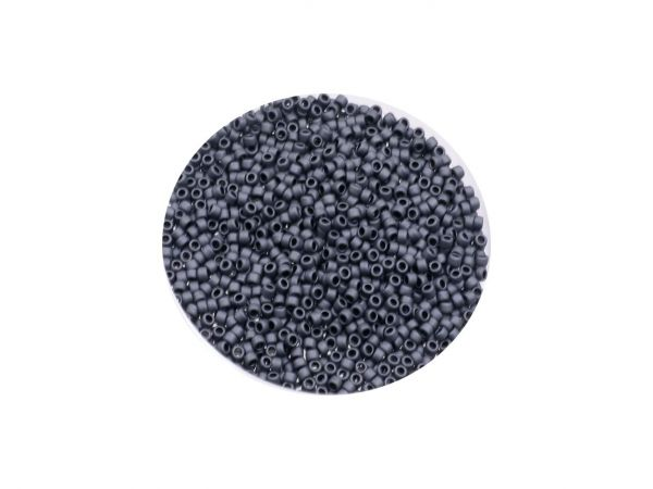 Toho Rocailles 11-0, ca. 2,1mm, 14g, TR11-611 matted opaque grey