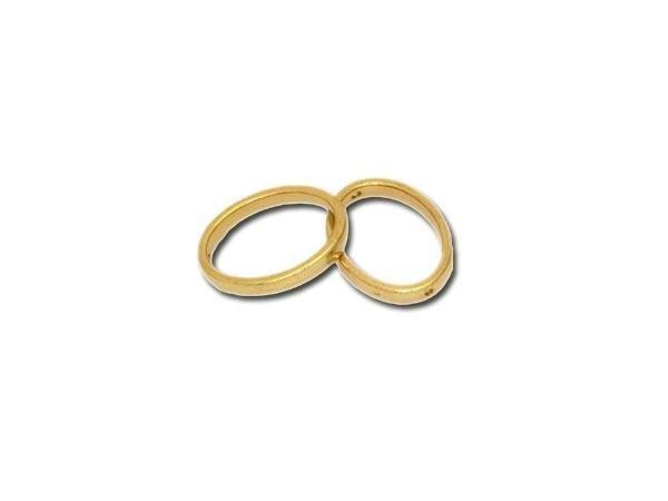 50 Stück Metallzierteill oval 20x14mm, goldfarbig