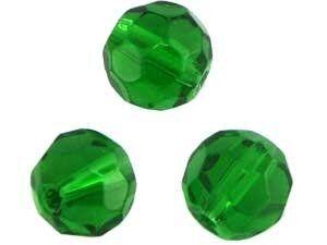 Crystal-Schliffperlen, preiswerte Qualität, 8mm Strang , ca. 45 St, emerald