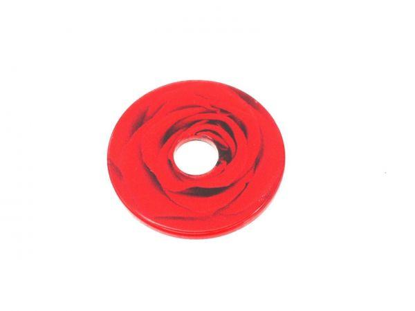"""RingIT Zubehör Acryl-Motivscheibe30mm """"Rose"""""""