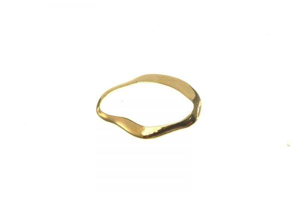 25 Stück Metallzierteil abstrakt oval ca. 30x20mm vergoldet