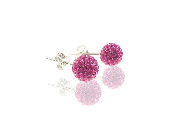 Diamondballs Ohrstecker, 8mm, Sterlingsilber, rose