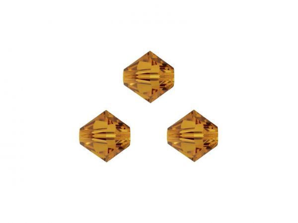 Swarovskiperlen, Doppelkegel, konisch, 5328, 3mm crystal copper