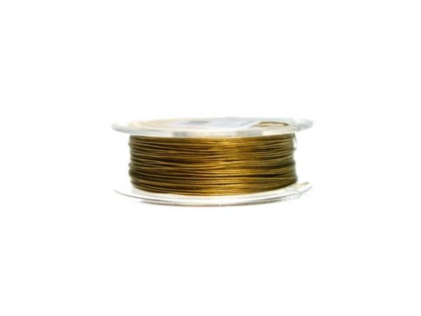 0,4mm Schmuckdraht, nylonummantelt, 100m Rolle gold