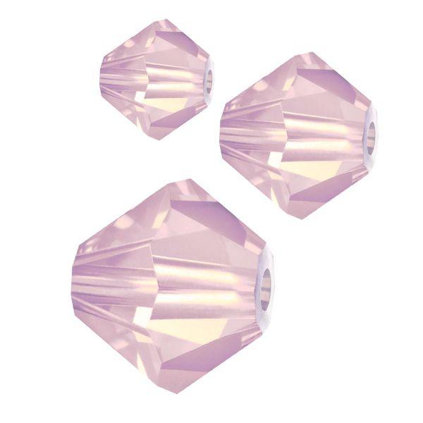 Preciosa Kristall Doppelkegel 6mm 20St., rose opal