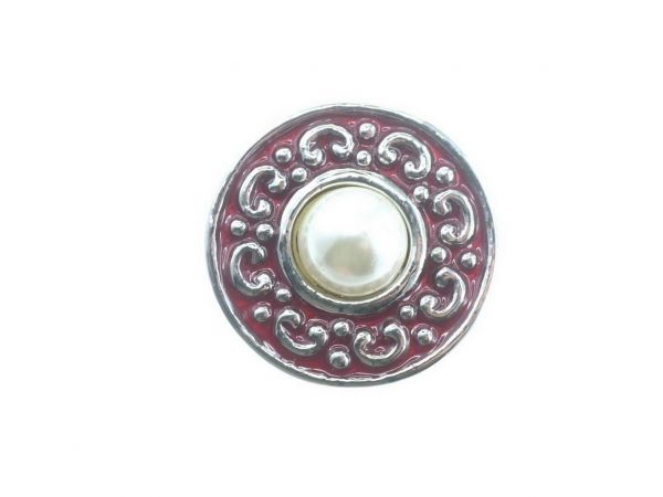 Click-it Button, Perle, 18 mm, rot
